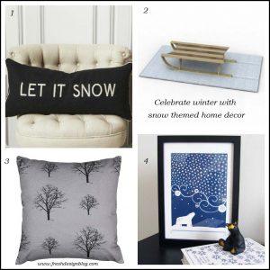 Snow themed contemporary modern home decor ideas