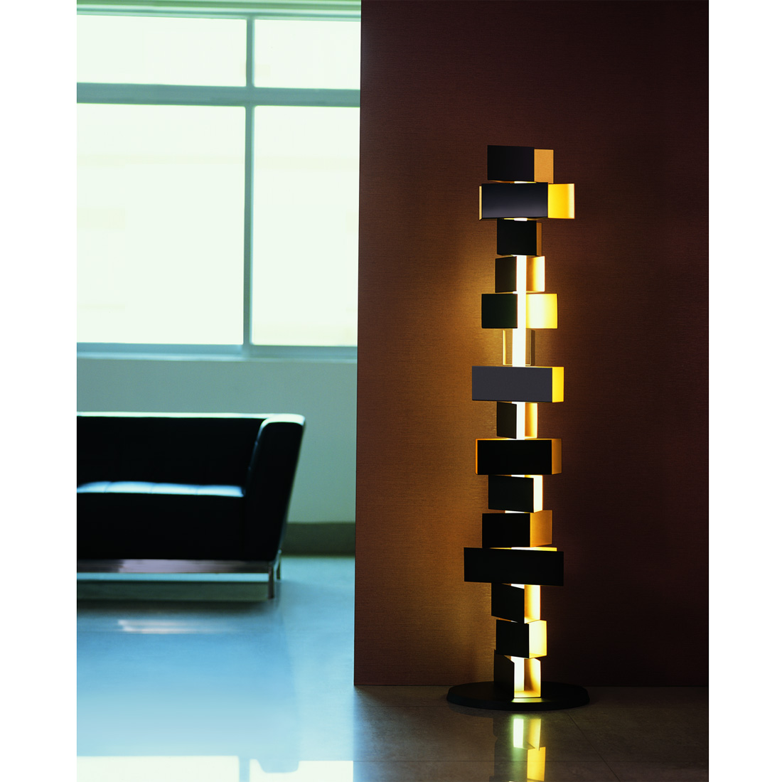 Gemma stacked block floor lamp from fashion for home for Designer lighting