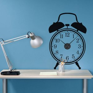 Funky fresh design clock wall sticker