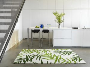 Palm botany contemporary rug