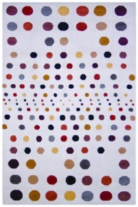 Contemporary spot design rug