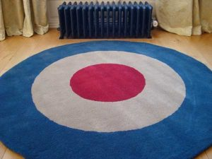 Contemporary roundel RAF rug