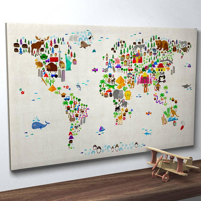 Map Wall Decor Ideas : Contemporary wall art fresh design