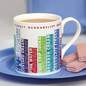 Biscuit dunking china mug