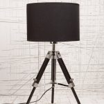Black tripod lamp from Urban Outfitters