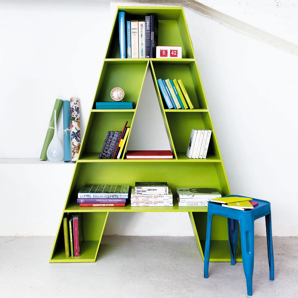 letter a shaped bookcase for childrens room fresh With letter shaped bookcase