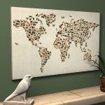 Creative design world map art prints by artPause