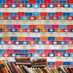 Penguin Library book wallpaper by Osborne & Little