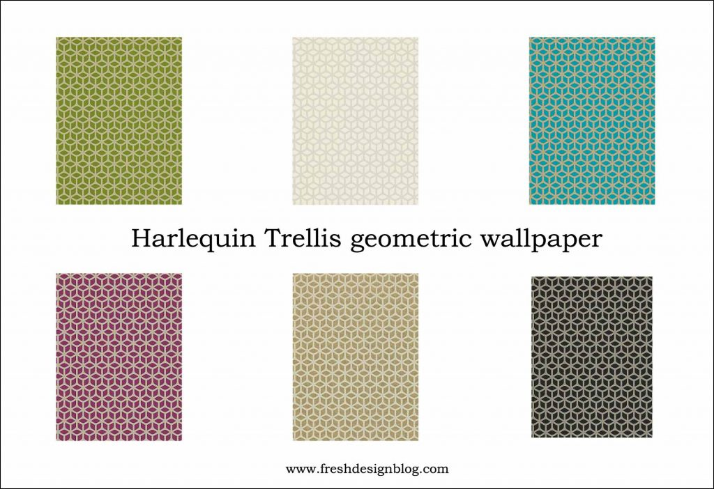 Contemporary modern geometric wallpaper
