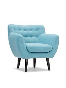 Contemporary modern blue arm chair
