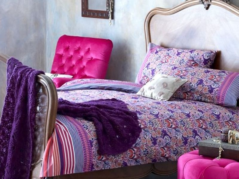 Purple bedding bedroom ideas