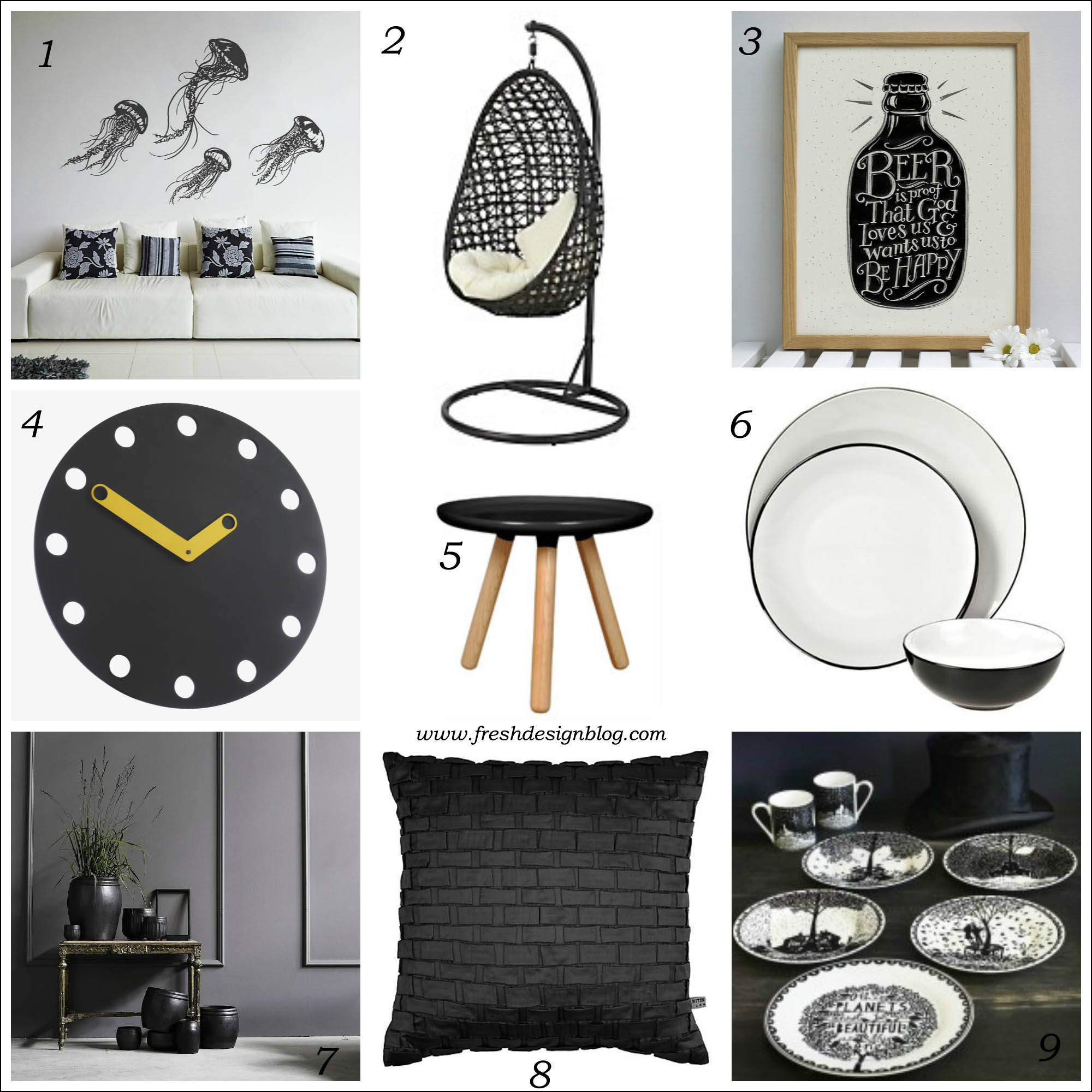 28+ [ black home decor accessories ] | black is the new neutral