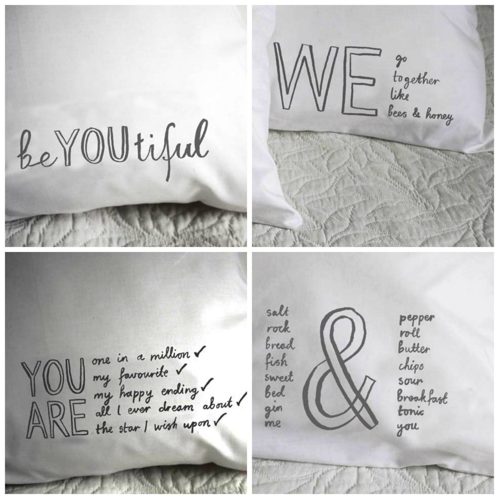 Message on a pillow