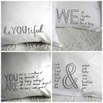 Fresh design bedroom linen: Quote design pillowcases