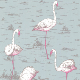 Best pink flamingo design wallpaper