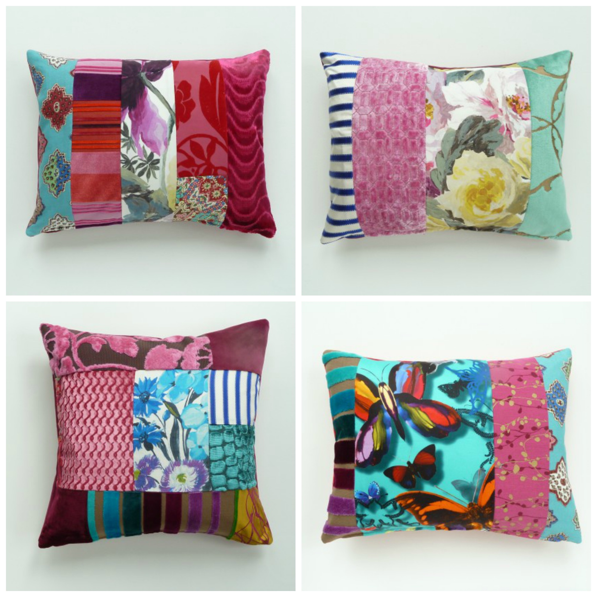 contemporary patchwork cushions by suzy newton fresh