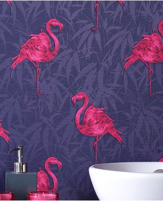 Best flamingo bird design contemporary wallpaper