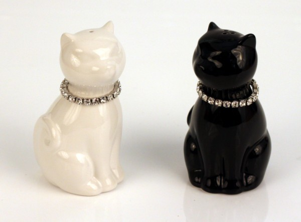 Quirky salt and pepper shakers