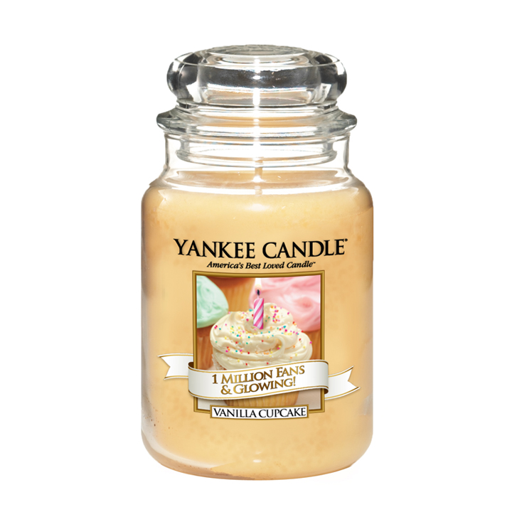 Limited edition Yankee Candle jar vanilla cupcake