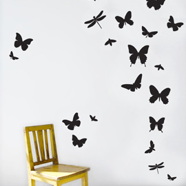 Contemporary home decor ideas using wall stickers