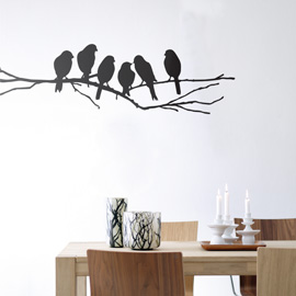 Contemporary wall sticker home decor ideas