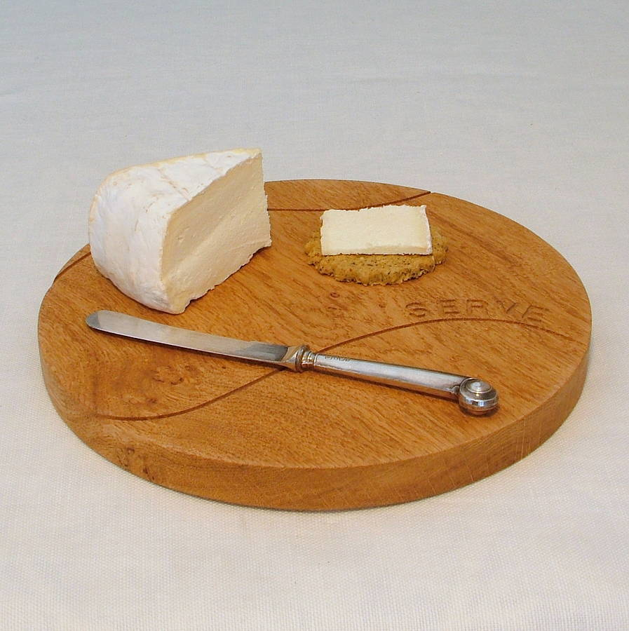 Anyone for tennis oak wood themed cheese board