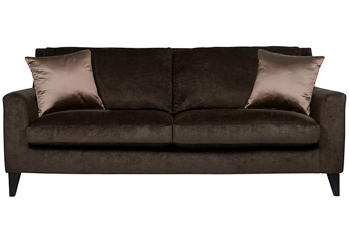 Luxurious contemporary velvet sofa