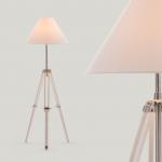 Fresh Design Lighting: Navy contemporary tripod floor lamp