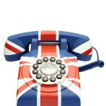 Funky Union Jack telephone