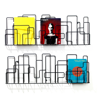 Contemporary design wall mounted magazine rack