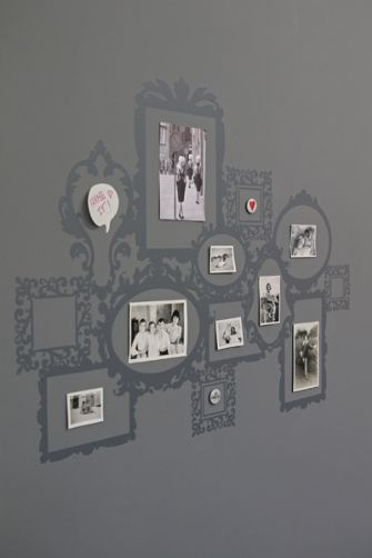 Creative Wall Art Using Picture Frame Wall Stickers ~ Fresh Design Blog Part 53