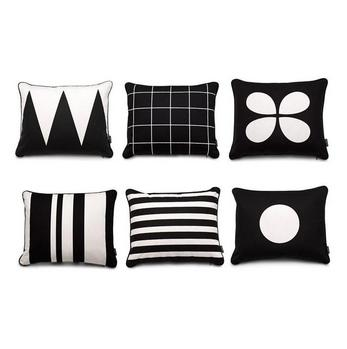 Contemporary monochrome trend cushion