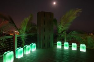 Contemporary home garden lighting