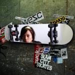 Urban chic: Contemporary skateboard mirror