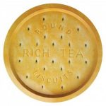 Rich tea biscuit design tray