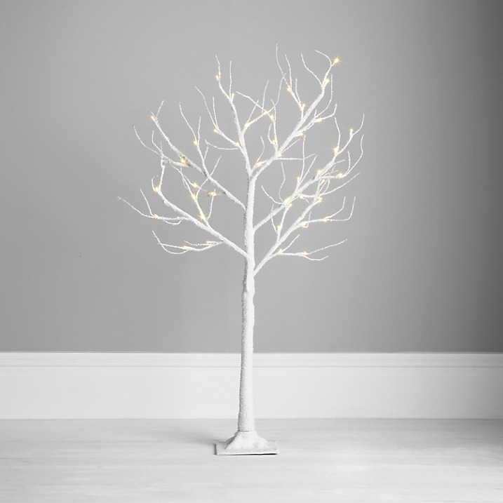 Snowy paper tree garden light decorations