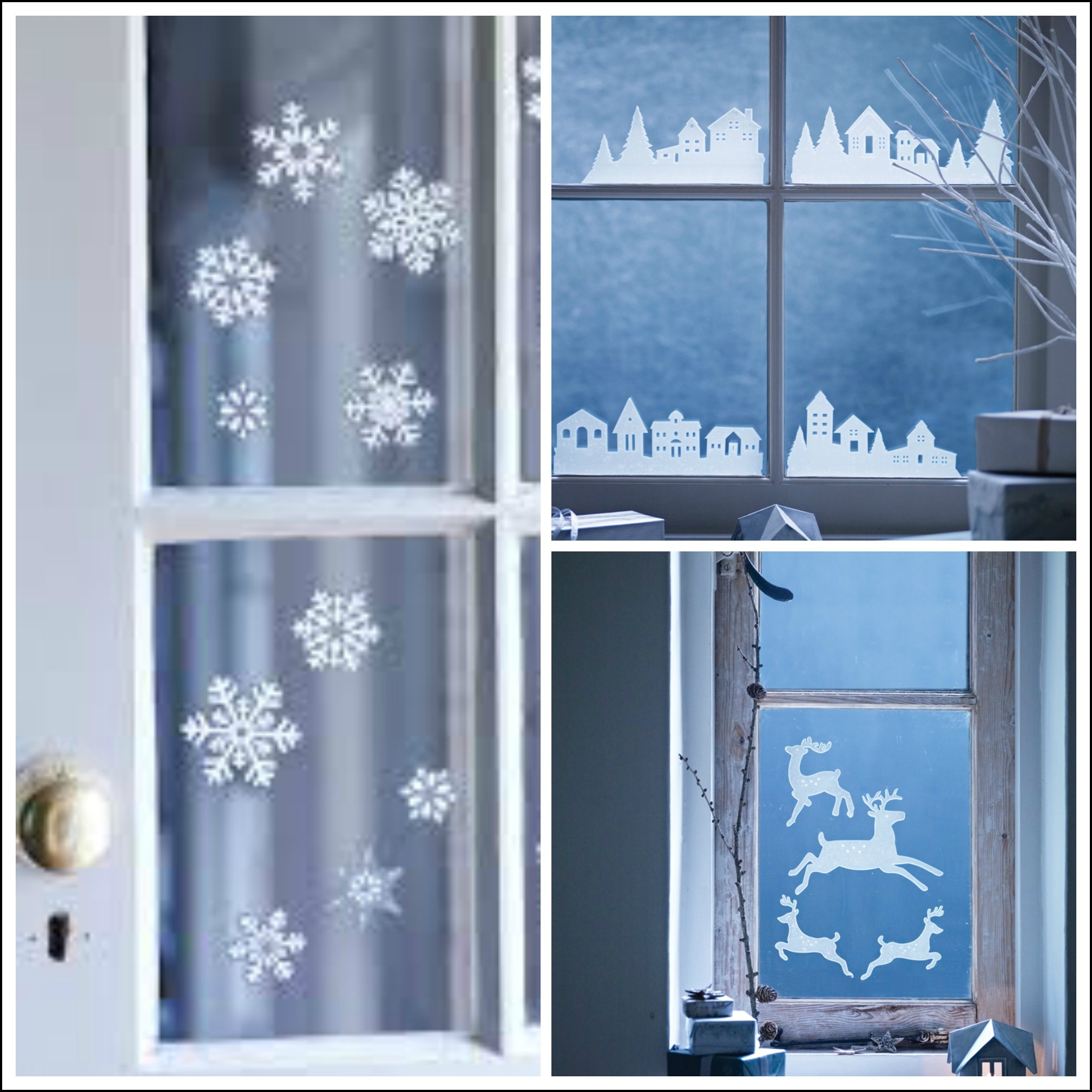Decorate Your Windows With Winter Themed Seasonal Window