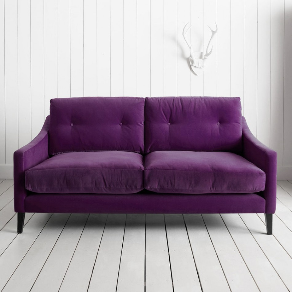 Are you sitting comfortably luxurious velvet sofas on for Purple sofa