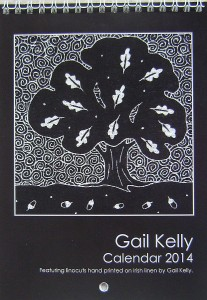 Linocut tree prints