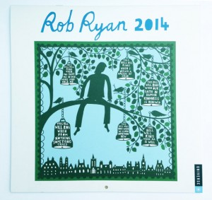 British designer Rob Ryan calendar