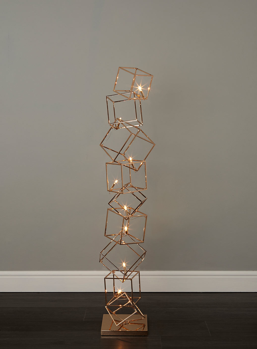 Statement lighting dexter 8 cube floor lamp fresh for Modern contemporary floor lamp