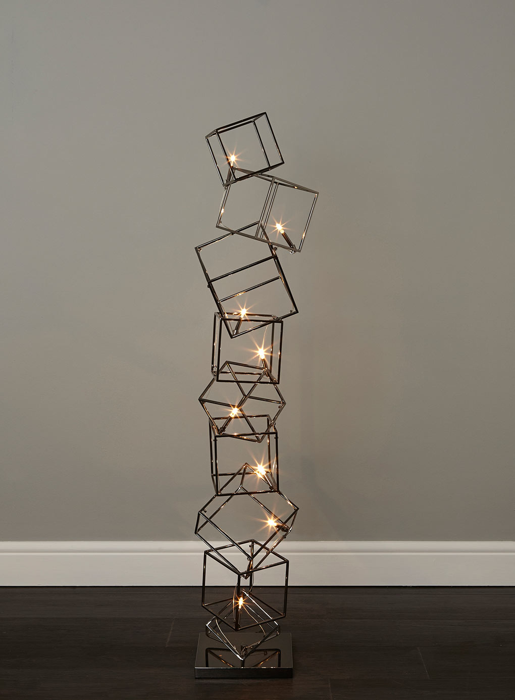 Statement lighting dexter 8 cube floor lamp fresh for Contemporary floor lighting