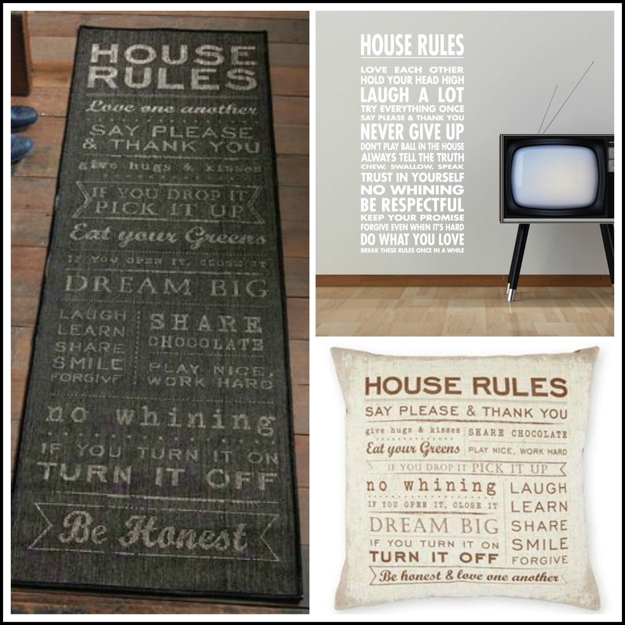 House Rules Home Decor Accessories