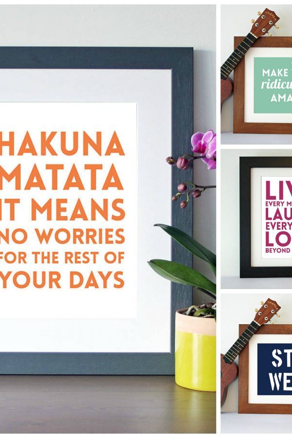 Perk up your wall with a motivational wall print