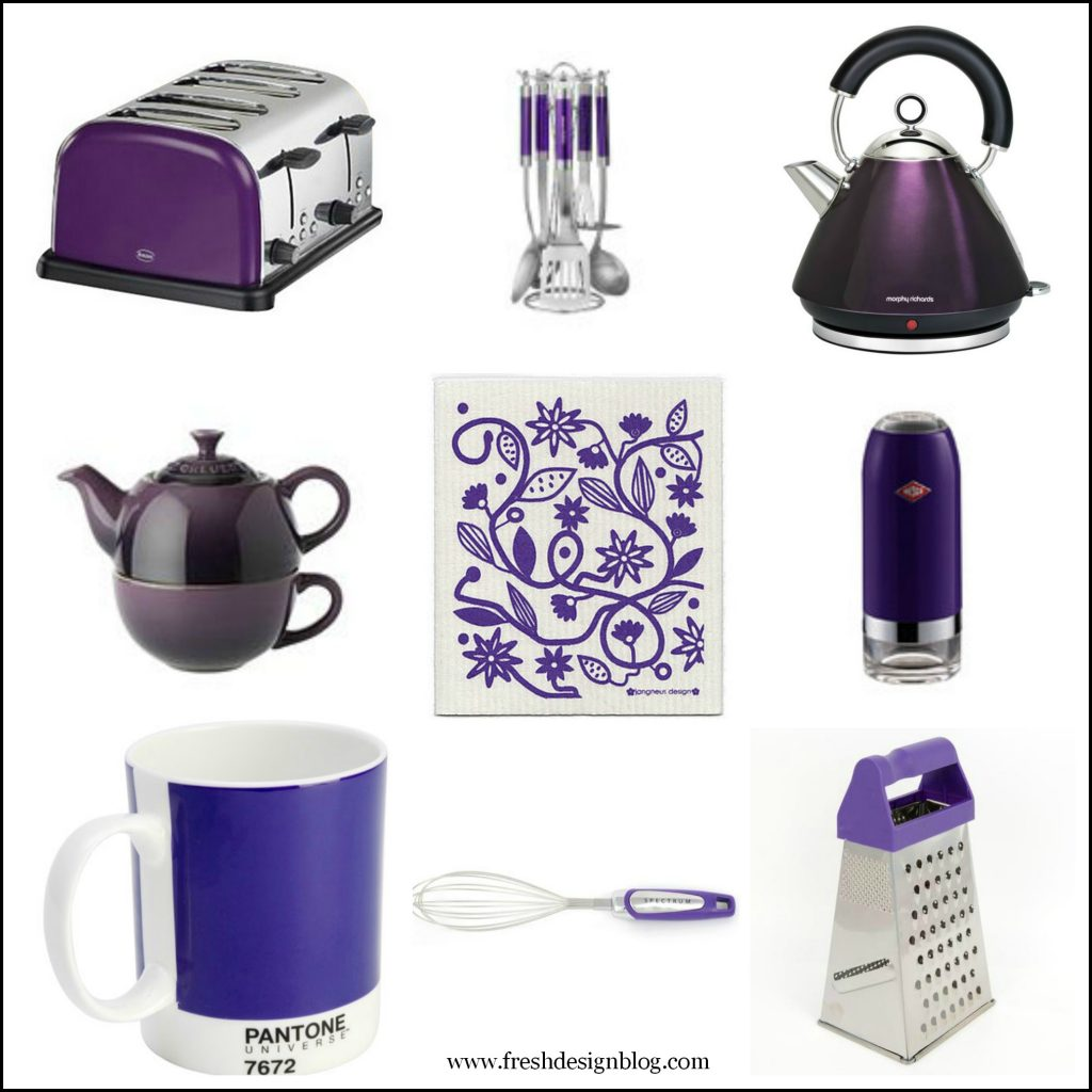 Purple And Green Kitchen Accessories: Purple-plum-kitchen-accessories-fresh-design-home