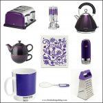 Kitchen kit: Purple themed kitchen accessories