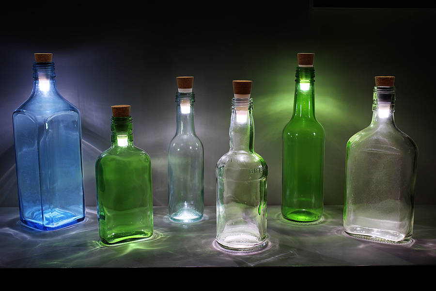 How to make a bottle light