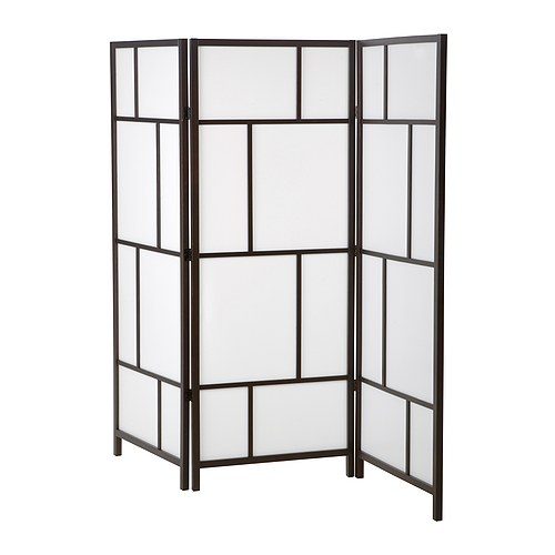 Wooden room divider screen