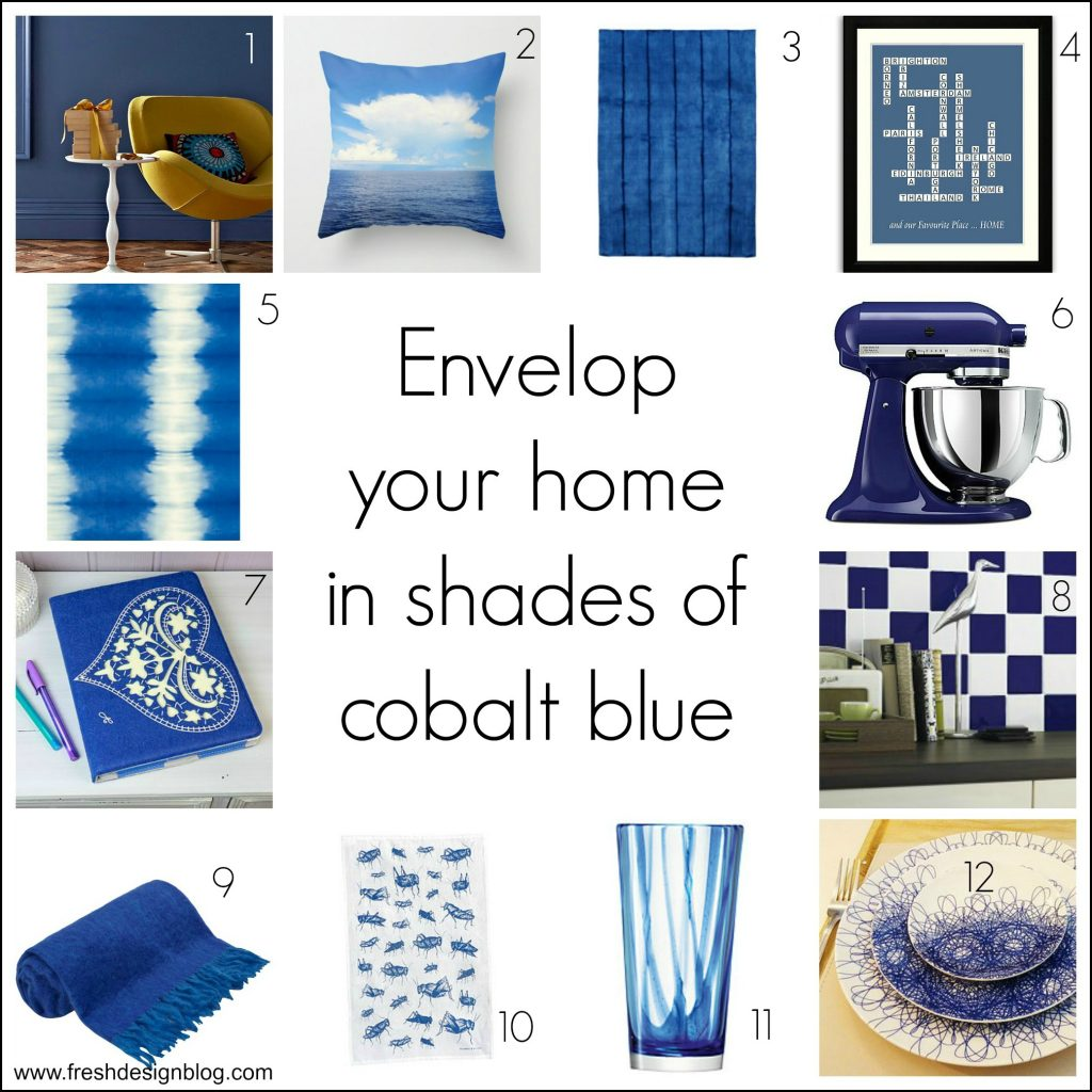 Fresh Design cobalt blue decorating ideas