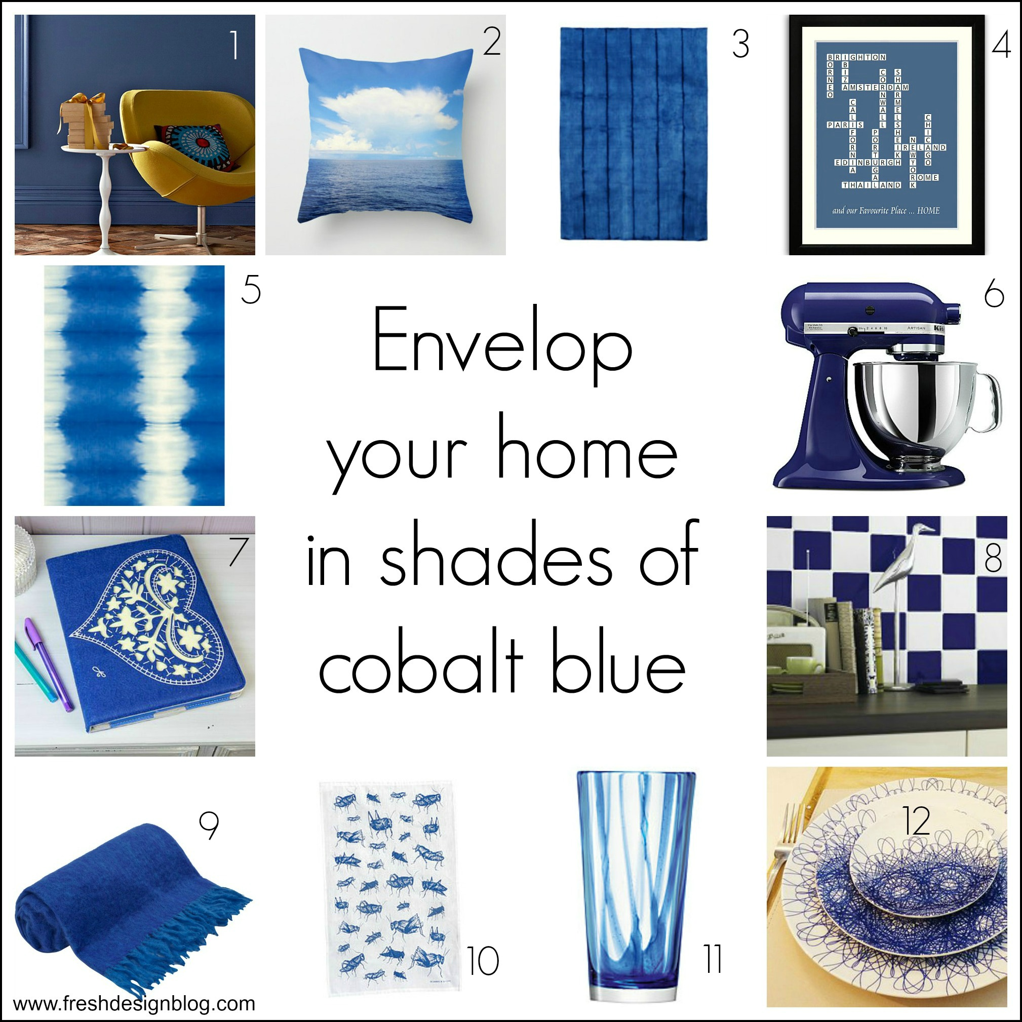 Fresh design colour cobalt blue home decor ideas fresh design blog - Blue home decor accessories ...